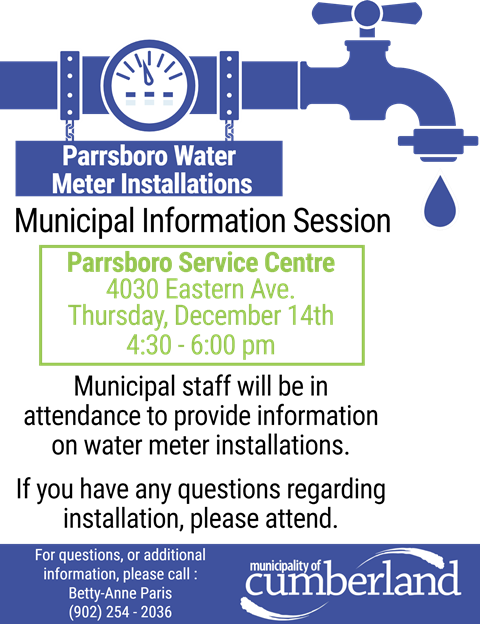 Parrsboro Water Meter Installation Info Session Web